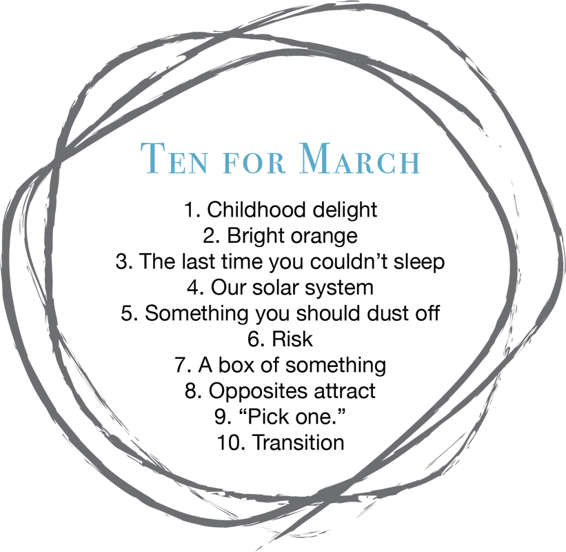 The Ten: A list of ten creative prompts released each month by TMPC